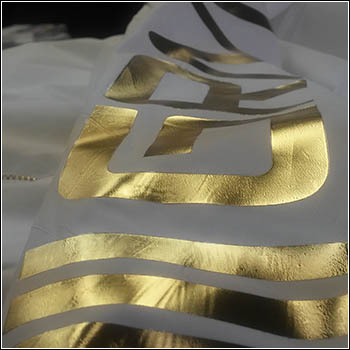 gold reflective print