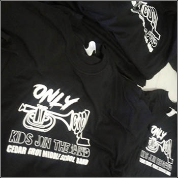 only kids join the band music shirt