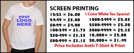 Custom t shirt printing in east chattanooga tn 3v printing for Cost to screen print t shirts